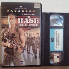 VHS FILM Ita Azione Guerra THE BASE Codice Del Disonore ex nolo no dvd(VHS21)
