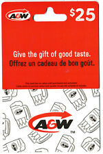 gift cards A&W restaurants collectible card burger root beer