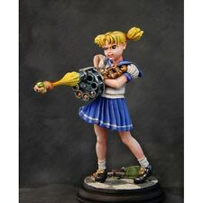 UNPAINTED Ginfritter's Gnomish Workshop 54mm Anime School Girl w/ Hamster Gun