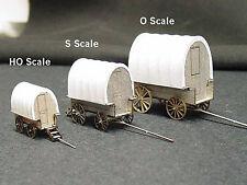 SHEEP HERDER'S WAGON HO Scale Model Railroad Unptd Wood Laser Kit GMSHH
