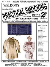 Weldon's 2D #44 c.1888  Practical Smocking Victorian Era Instruction Book (3rd)