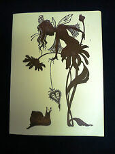 VTG 1976 BILLY ORCHID LIMITED EDITION PRINT FAIRY FLOWER & SNAIL COCKETTES HIPPY