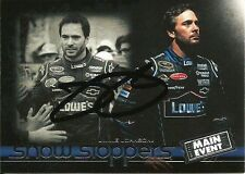 Jimmie Johnson Signed 2011 Press Pass Wheels Main Event NASCAR Trading Card