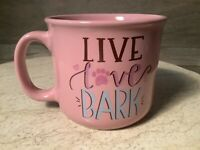 LIVE LOVE BARK LARGE 16oz Coffee Tea Mug Dog NEW GREAT GIFT NICE MUG !!