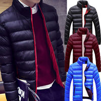 UK 2017 Mens Winter Warm Slim Coat Thick Jacket Parka Outerwear Hoodies Tops Lot