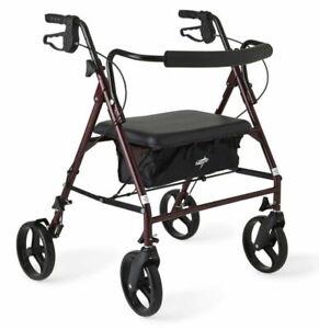 Rolling Walker For Seniors Medical Walkers Rollator Transport Chair BLACK