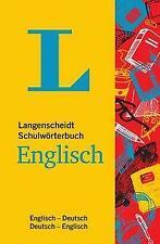 Langenscheidt Schulwörterbuch Englisch - Mit Info-Fenstern zu Wortschatz & Landeskunde (Book)