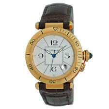 CARTIER 18K Yellow Gold 38mm Pasha Diver 1020 Automatic Box Warranty MINTY