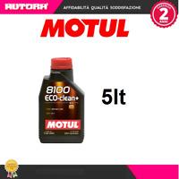 101580-G 5lt Olio Motul 8100 Eco Clean + 5W30 100% Sintetico (MOTUL)