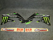 KAWASAKI KXF450 2012-2015 D Cor MONSTER ENERGY graphique + plastique 10-20724