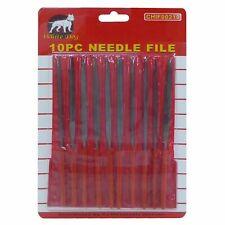 NEW 10pc Precision Needle File Set Jewelers Metal Glass Hobby Tool FREE SHIP
