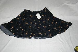 Scotch & Soda Mini Skirt, Black w/ Gold & White Stars, M, New w/ Detached Tag