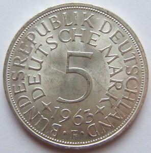 5 DM 1963 F in Vorzüglich / Stempelglanz !!!