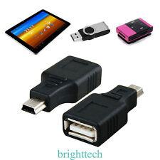 USB 2.0 A Female to Mini USB B 5 Pin  Male Adapter Converter Black New
