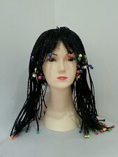 New Black Dreadlocks Beaded Rasta Wig /Wigs Party Costume Accessory