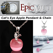 EPIC Cats Eye Apple Pendant & Chain