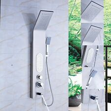 Stainless Steel Shower Panel Massage Jets Tub Spout Hand Sprayer Shower Column