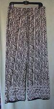 Womens Max Edition Black Raindrop Rayon Palazzo PullOn Pants NWT $98 M x 30 1/2