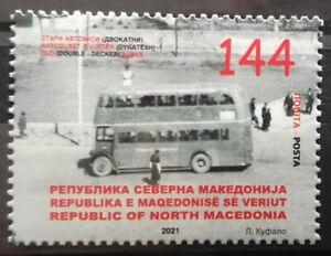 MACEDONIA NORTH 2021 - TRANSPORTATION DOUBLE DECKER MNH