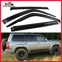 Window Visors for Nissan Patrol GU Y61 4pcs Wind Shields Rain Vent 1997-2019