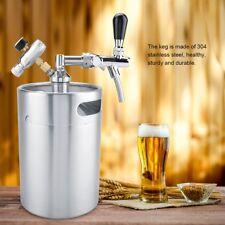 5L Beer Growler Keg  Dispenser Mini Keg  Beer Tap Adjustable Stainless Steel