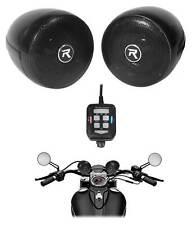 """(2) Rockville RockNRide 3"""" Altavoces Bluetooth De Metal Motocicleta Manillar accionado"""