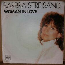 "7"" Vinyl - BARBARA STREISAND - Woman in Love/run wild ('80/Berry Gibb/Bee Gees)"