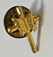 Vintage Cross Crucifix & Butterfly Hat Tie Tac Lapel Pin Brooch