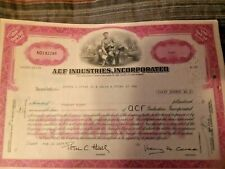 LOT 520 BUILD A RAILCAR WITH ACF IND! Collection of 4 Vintage Stock Certificates