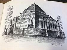 BRT Very Rare Artist Cedric Emanuel's Melbourne Sketch Book HC First Print 1976