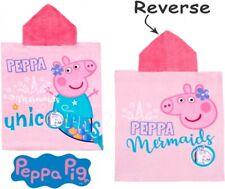 "OFFICIAL  PEPPA PIG ""UNICORN""  Character Hooded Bath Beach Swimming Towel !!"