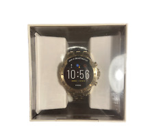 Fossil Garrett HR Gen 5 46mm Stainless Steel Smart Watch, Gold-Tone (FTW4039P)
