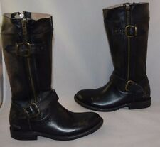 New Bed Stu 'Gogo' Boot Black washer Leather Women's  Size 6.5M  $295