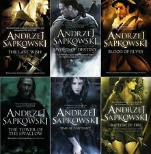 Andrzej Sapkowski 6 Book Set Collection (Witcher Series) RRP