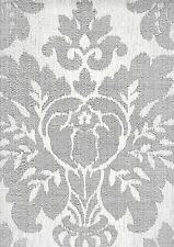 Fabric Damask Silver & Grey Sparkle Wallpaper