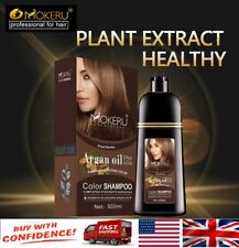 Mokeru Natural Brown Color Permanent Hair Colour Shampoo Long Lasting Hair Dye