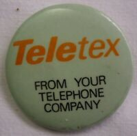 Vintage Advertising Pinback Button Teletex From Your Telephone Company Phone