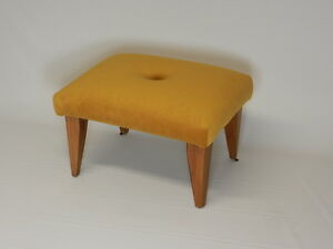 Tufted Suede Art Deco Foot Stool (Available in 7 Colors)