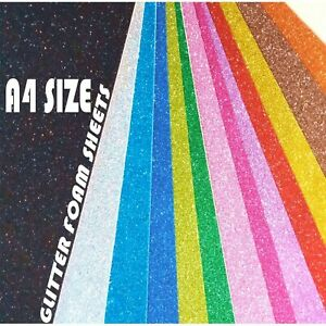 New Glitter Foam Sheets Big Packs - A4 Size Newly Crafted