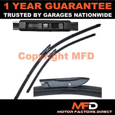 "FOR RENAULT SCENIC/GRAND 2004-09 DIRECT FIT FRONT AERO WIPER BLADES PAIR 26"" 22"""