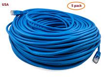 5pcs Ptc Blue Cat 5e Patch Internet Ethernet Lan Network Cable 250' ft. Lot 5pcs