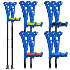 FDI Access Comfort Grip Walking Adjustable Extendable Open Cuff Crutches Blue