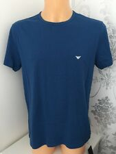 EMPORIO ARMANI Small Logo Blue & White 2 Pack Tees Size M. BNIB WITH TAGS