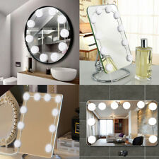 10x LED Vanity Makeup Mirror Lights Kit Hollywood Style Dimmable Table Bulbs UK
