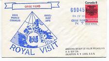 1975 Canada Grise Fiord Prince Charles Royal Polar Antarctic Cover Calverton USA