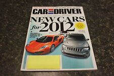 CAR AND DRIVER NEW CARS FOR 2012 SEPTEMBER 2011 VOL.57 #3 9248-1 [BOX H] #1060