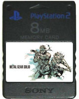 METAL GEAR SOLID 1 2 3   MEMORY CARD SAVES   PS2 Sons Liberty Snake Eater 3 VR