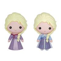 Disney Frozen 2 Elsa Princess Purple & Elsa Ice Queen Refrigerator Magnet 2-pack