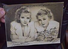 vintage autograph photo, duncan ststers, Vivian & Rosetta,w/inscriptions,++  s4