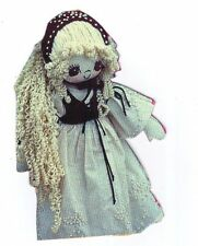 "Sewing patterns & instructions to  make a 17"" tall Gretel Fabric Cloth Rag Doll"